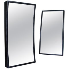 Pair of Glass Distortion Carnival Fairground Mirrors Concave and Convex