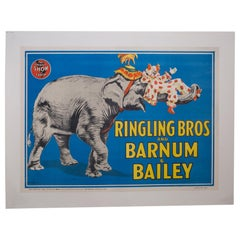 Early 20th Century Ringling Brothers Circus Poster, circa 1945