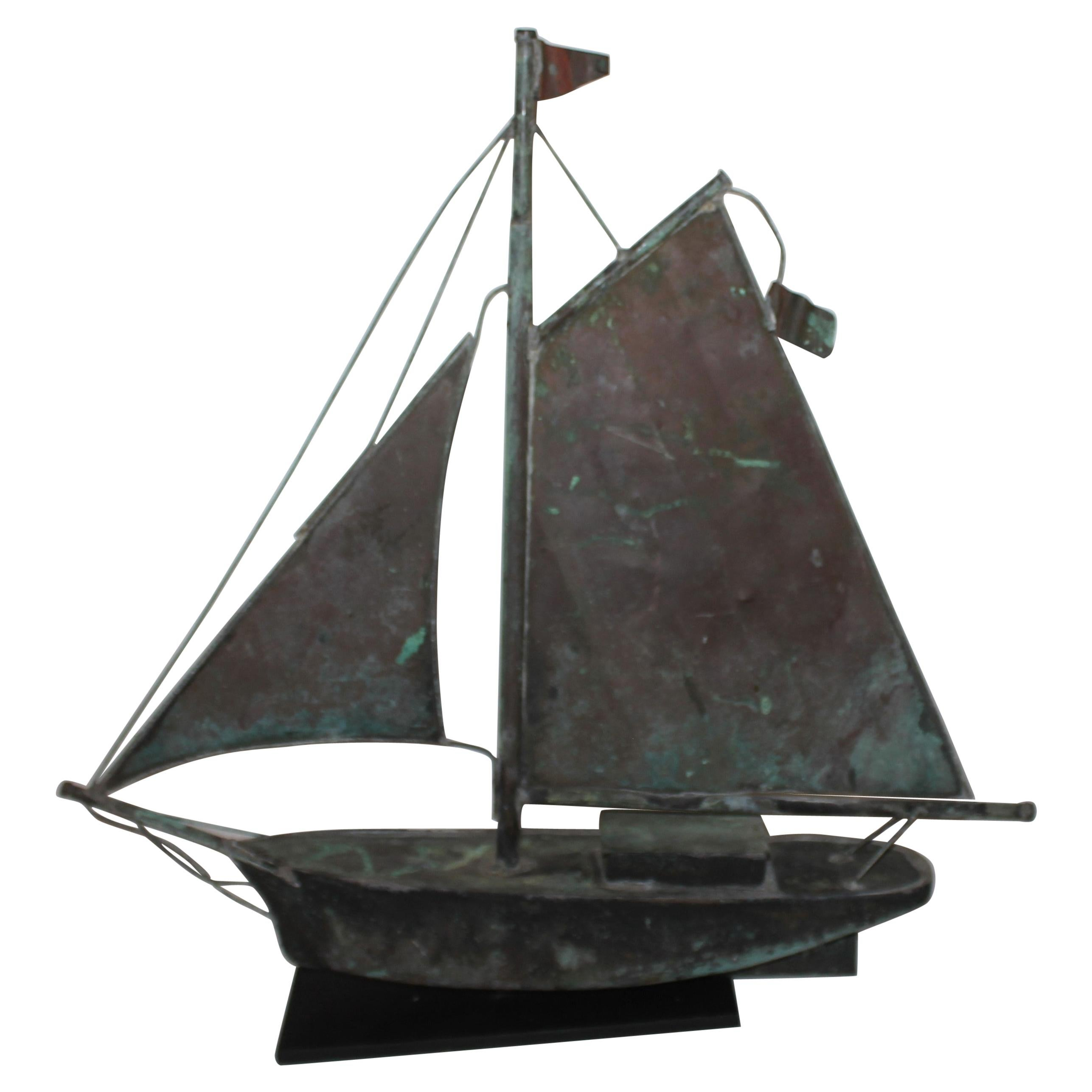 Early 20th C Sailboat Weather Vane