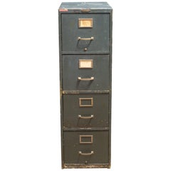 """Early 20th C. """"The Victor"""" Wooden File Cabinet, c.1940"""