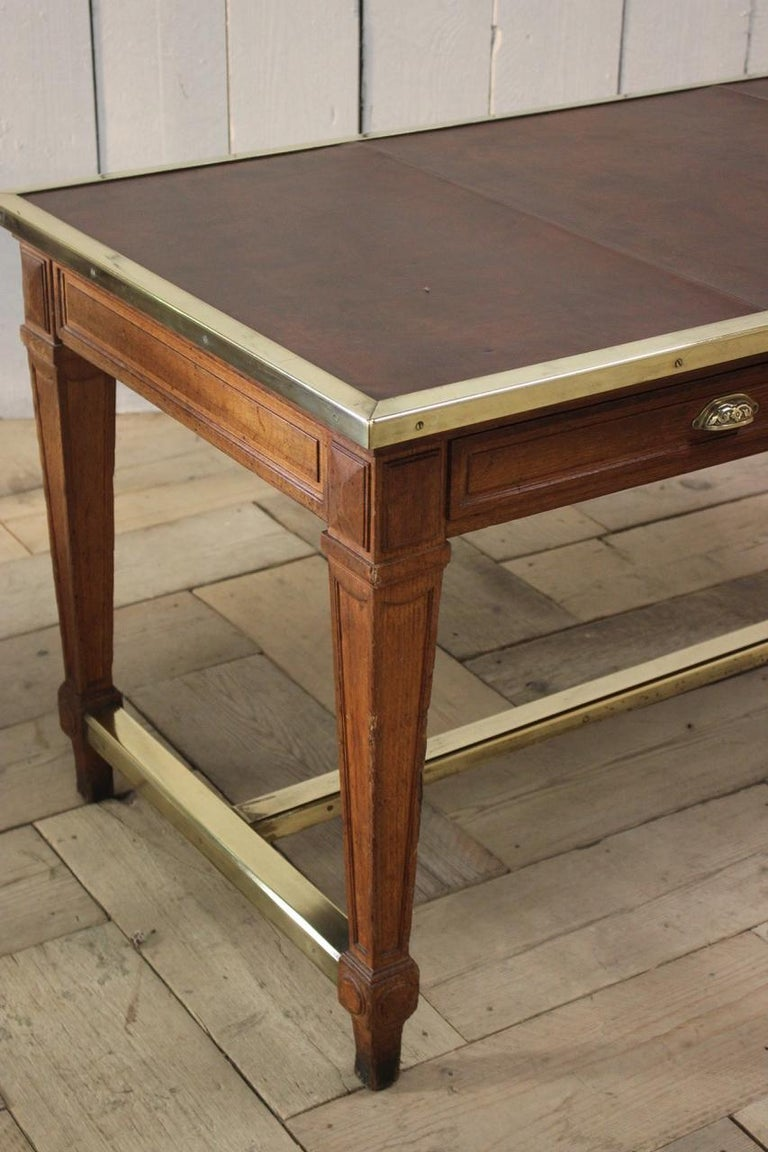 """Early 20th Century French """"Bank of France"""" Oak Desk For Sale 1"""