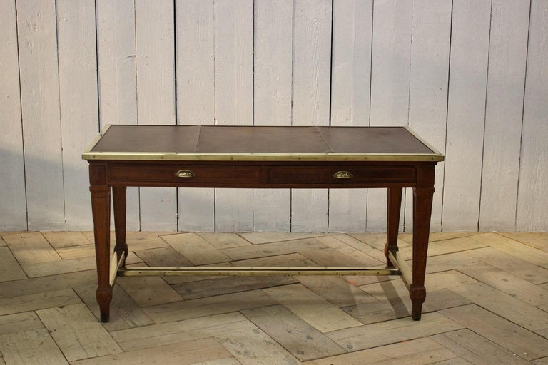 """Early 20th Century French """"Bank of France"""" Oak Desk For Sale 2"""