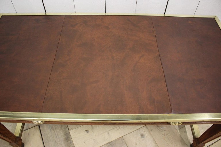 """Early 20th Century French """"Bank of France"""" Oak Desk For Sale 3"""