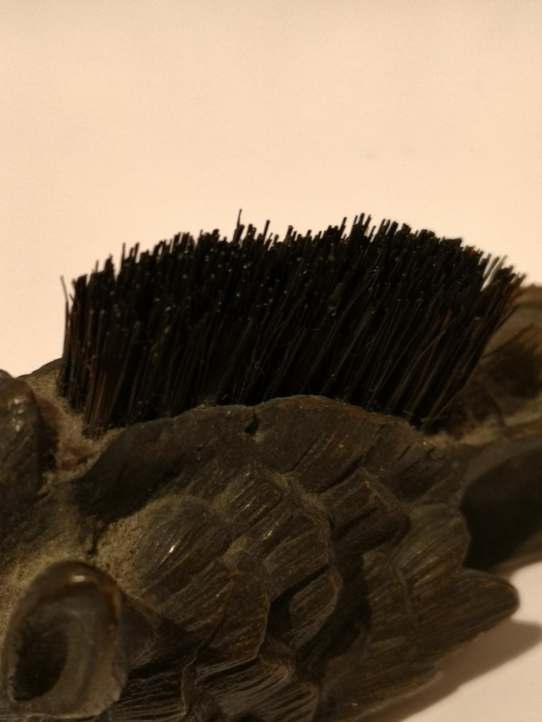 Early 20th Centruy Black Forest Hat Pegs Wild Boar Bronze, Austria For Sale 2