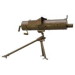 Early 20th Century 1920s Dutch Military Training Metal Practice Machine Gun