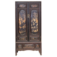 Early 20th Century 2-Tier Lacquered Cabinet