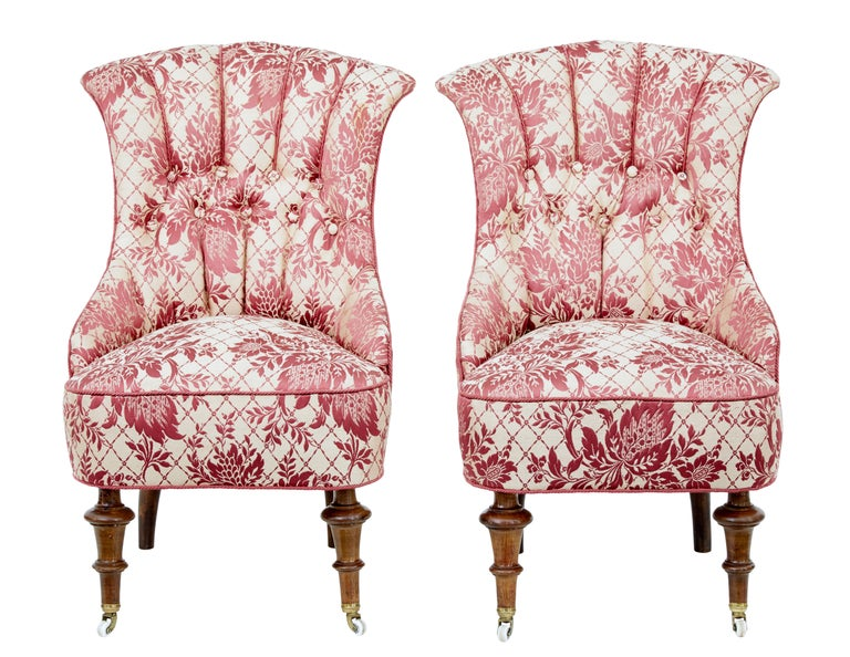 Walnut Early 20th Century 3-Piece Upholstered Salon Suite For Sale