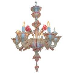 Early 20th Century 6-Light Venetian Chandelier