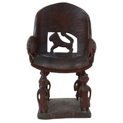 Early 20th Century African Chieftain Chair