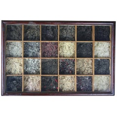 """Early 20th Century """"All Prices Are Per Stone"""" Tradesman Wool Sampler"""