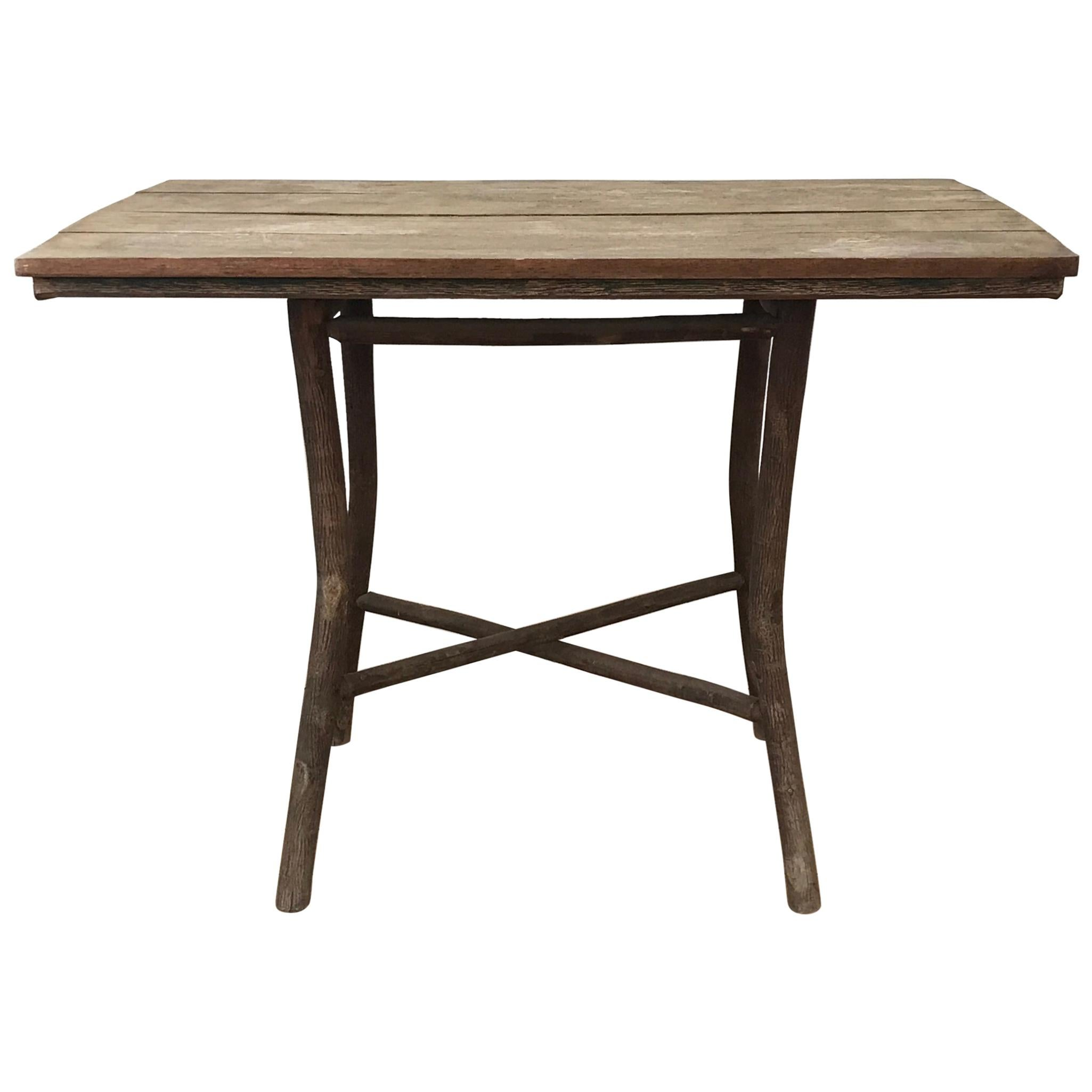 Early 20th Century American Adirondack Center Table, Authentic