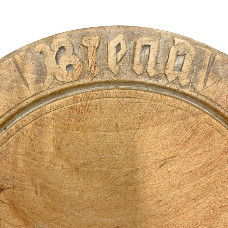 Hand-Carved Early 20th Century American Breadboard For Sale