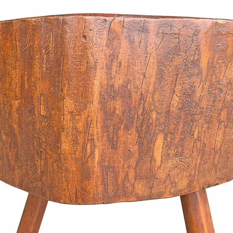 Early 20th Century American Butcher Block Table For Sale 7