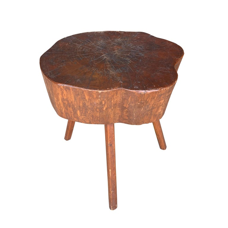 Early 20th Century American Butcher Block Table For Sale 1