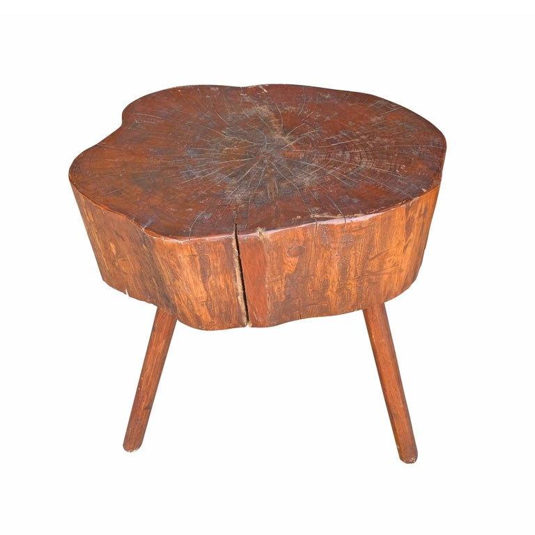 Early 20th Century American Butcher Block Table For Sale 2