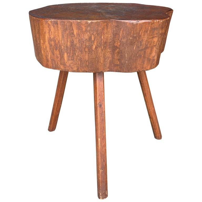 Early 20th Century American Butcher Block Table For Sale