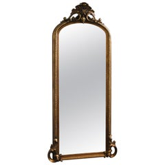 Early 20th Century, American Gilt Resin and Gesso Hall Mirror