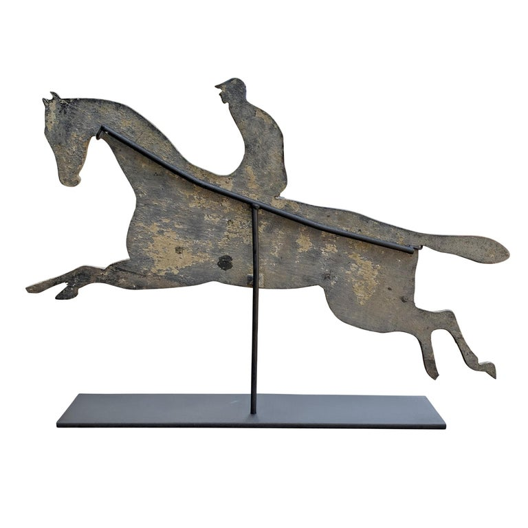 Early 20th Century American Horse and Jockey Weathervane For Sale 1