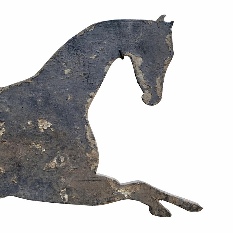 Early 20th Century American Horse and Jockey Weathervane For Sale 3