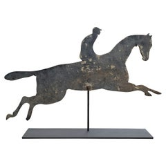 Early 20th Century American Horse and Jockey Weathervane