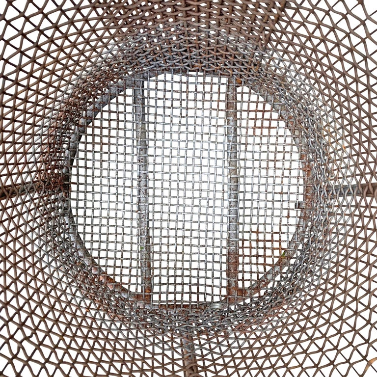Early 20th Century American Industrial Wire Basket For Sale 4