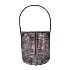 Early 20th Century American Industrial Wire Basket