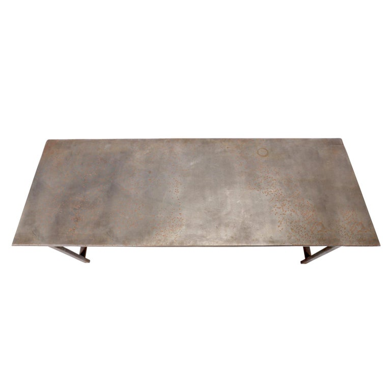 Steel Early 20th Century American Industrial Work Table For Sale