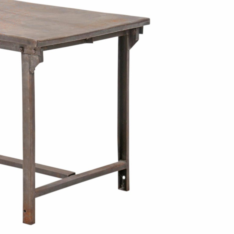 Early 20th Century American Industrial Work Table For Sale 1