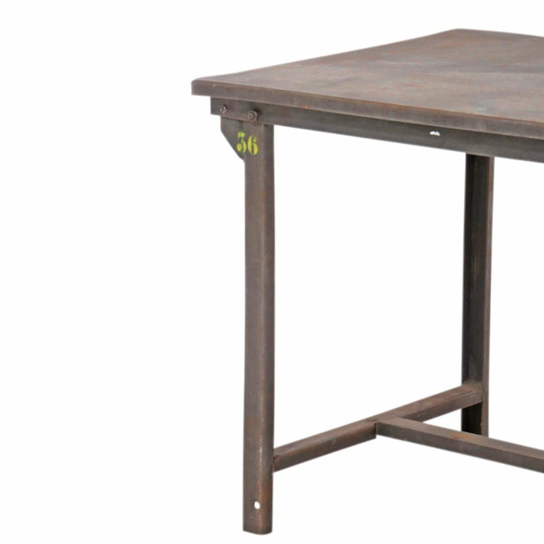 Early 20th Century American Industrial Work Table For Sale 2