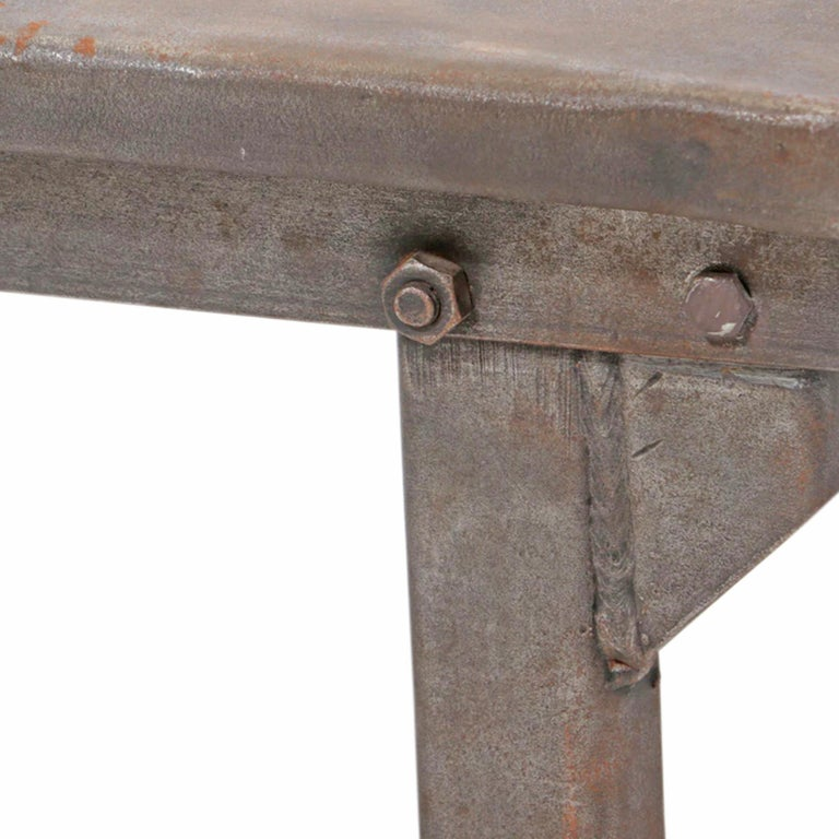 Early 20th Century American Industrial Work Table For Sale 4