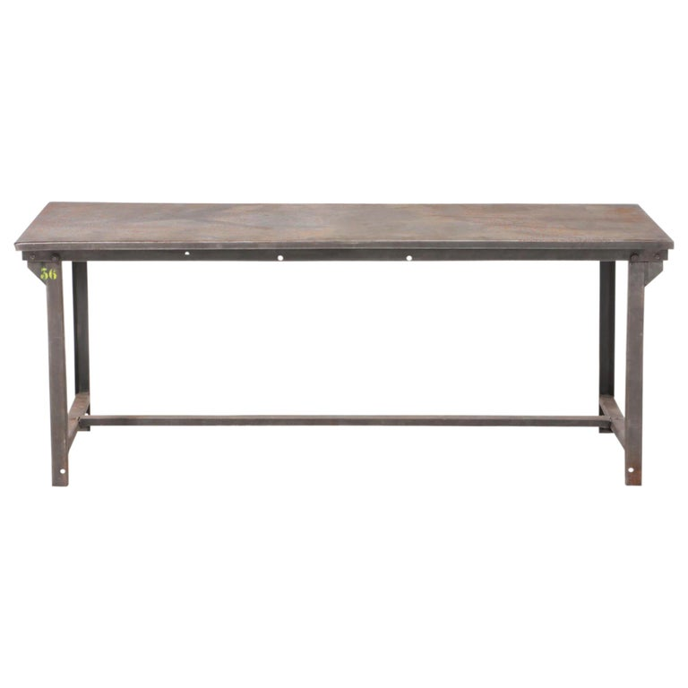 Early 20th Century American Industrial Work Table For Sale