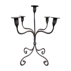 Early 20th Century American Iron Candelabra