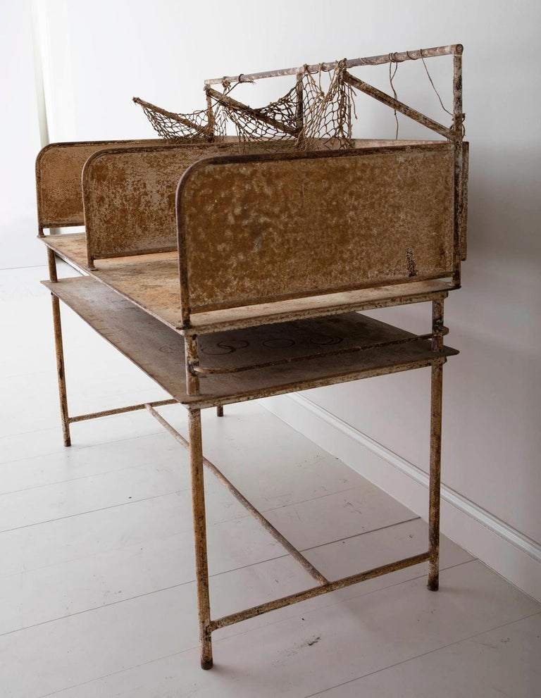 Early 20th Century American Iron Oyster Table For Sale 4
