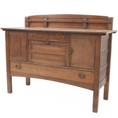 Early 20th Century American Mission Sideboard, by Limbert