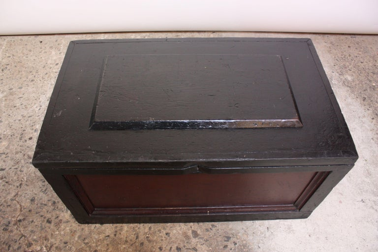 American Craftsman Early 20th Century American Painted Trunk or Blanket Chest For Sale