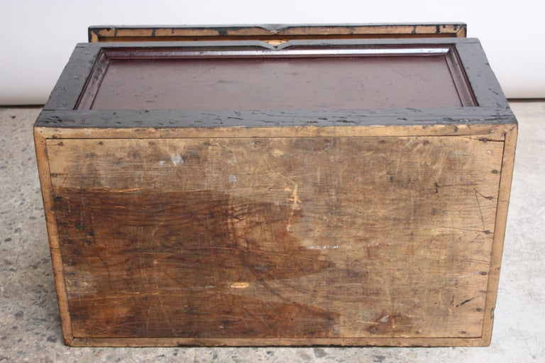 Early 20th Century American Painted Trunk or Blanket Chest For Sale 4