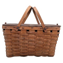 Early 20th Century American Picnic Basket