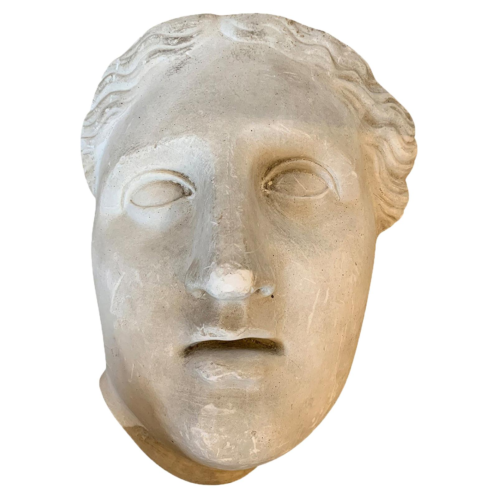 Early 20th Century American Plaster Mask of Man by C. Hennecke & Co. Milwaukee