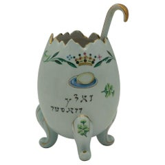 Early 20th Century American Porcelain Salt-Water Dish for the Passover Seder