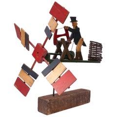 Early 20th Century Americana Uncle Sam Lumberjack Whirligig