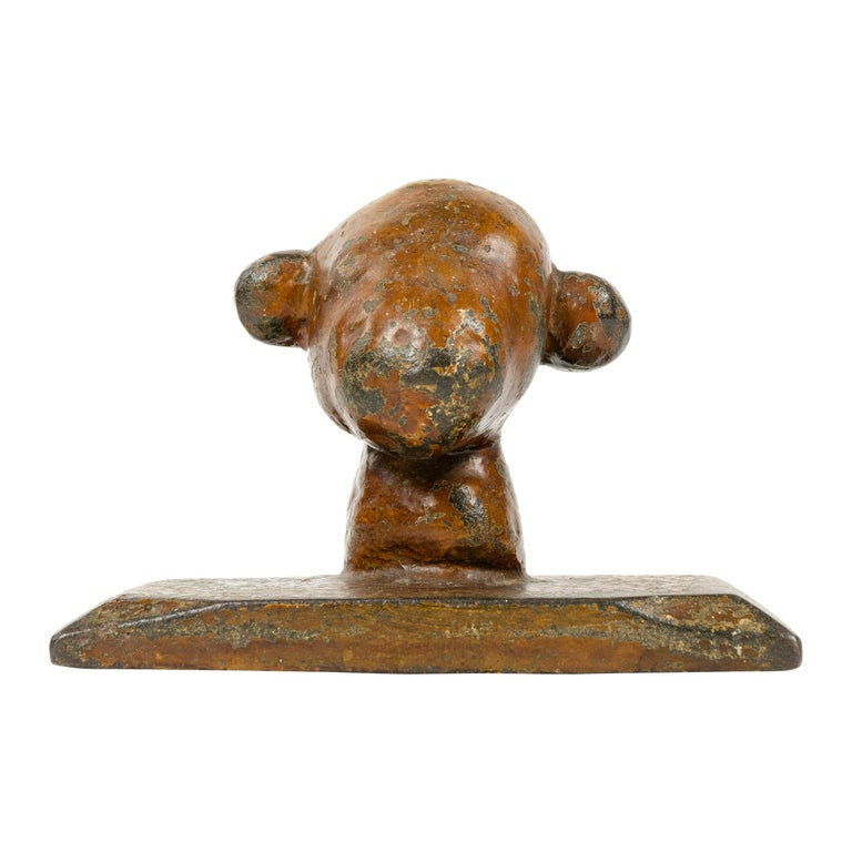 Early 20th Century Animal Shape Iron Paperweight For Sale