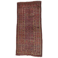 "Early 20th Century Antique Afghan Beshir Gallery Size Wool Rug - 10'0"" x 21'6"""