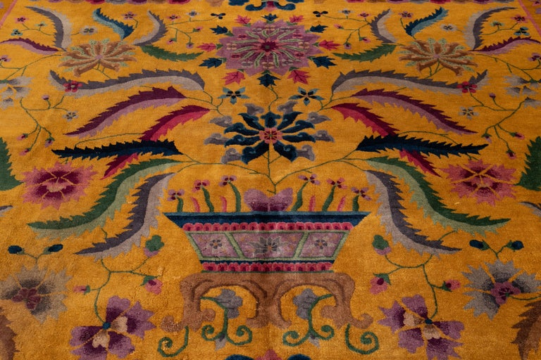 Early 20th Century Antique Art Deco Chinese Rug For Sale 7