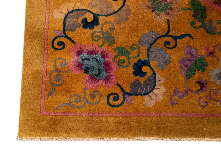 Early 20th Century Antique Art Deco Chinese Rug For Sale 1