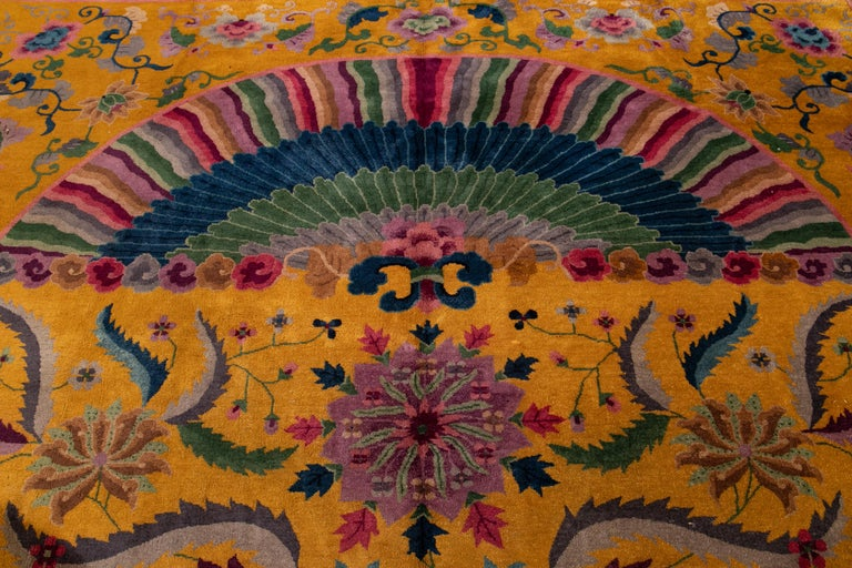 Early 20th Century Antique Art Deco Chinese Rug For Sale 2