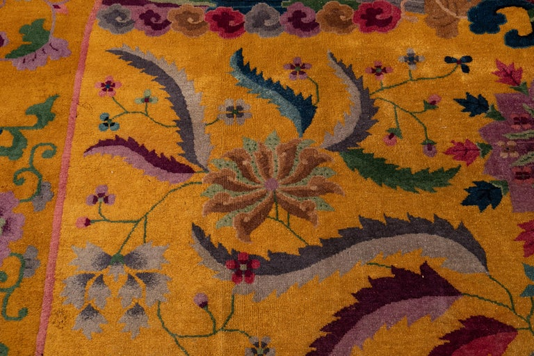 Early 20th Century Antique Art Deco Chinese Rug For Sale 3
