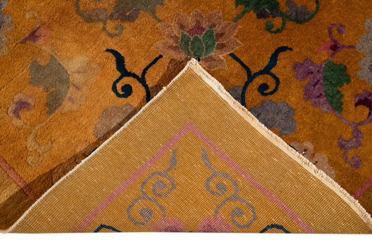 Early 20th Century Antique Art Deco Chinese Rug For Sale 4
