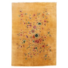 Early 20th Century Antique Art Deco Chinese Rug