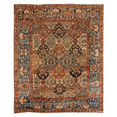 Early 20th Century Antique Bakhtiari Wool Oversize Rug