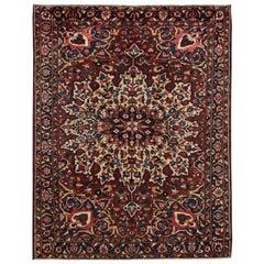 Early 20th Century Antique Bakhtiari Wool Rug